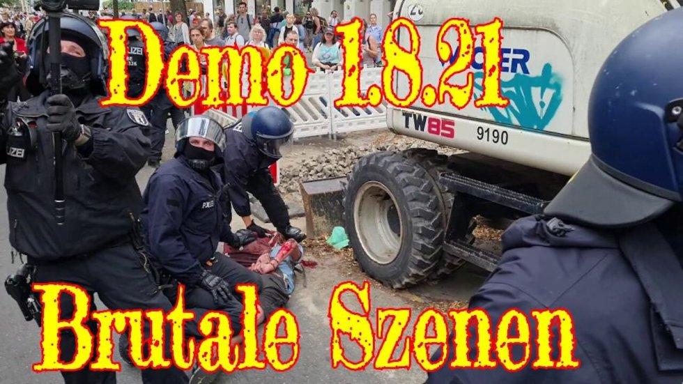 """Brutale Szenen: Wie Berliner Polizei bei der verbotenen """"Corona-Demo"""" zugriff"""