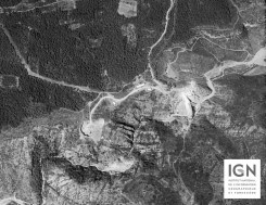 1950 - La barrage est en construction et on devine le lit de la rivière