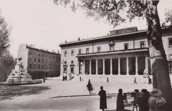 Le Palais de Justice d'Aix-en-Provence avant 1958