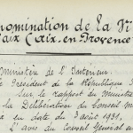 Acte de naissance de la ville d'Aix-en-Provence