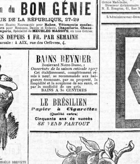 PUBLICITE BAINS REYNIER