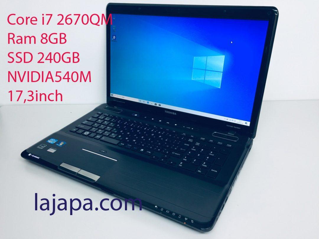 Toshiba T571 Core i7 2670QM-Ram 8GB- SSD 240GB-17,3 inch NVIDIA540M