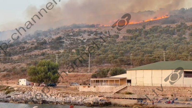 I vuri zjarrin ullishtes në Ksamil