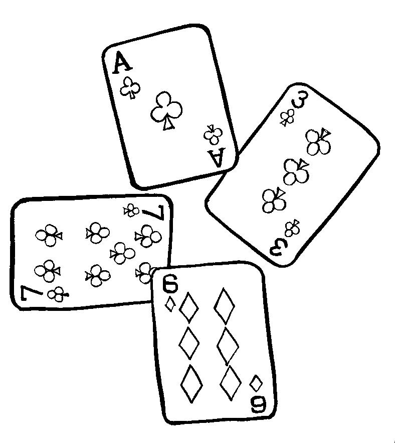 Bridge Players' Coloring Book