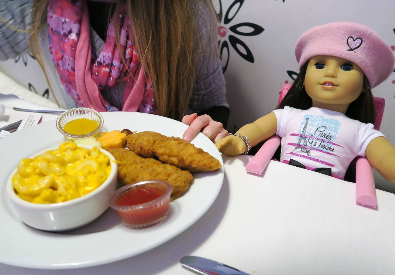 american girl doll chairs twin chair bed lunch at cafe in new york city - la jolla mom