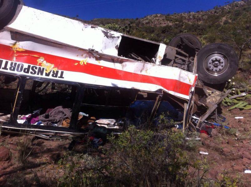 caso del accidente en Santa María del Río
