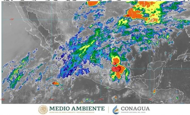El frente frío número 56 se extenderá con características de estacionario sobre el norte de México. Foto tomada del Twitter @conagua_mx