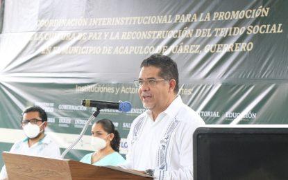 El subsecretario de Desarrollo Democrático, Participación Social y Asuntos Religiosos, Rabindranath Salazar Solorio, dijo que es necesario transformar el paradigma de la seguridad en el país. Foto tomada de @RabinSalazar