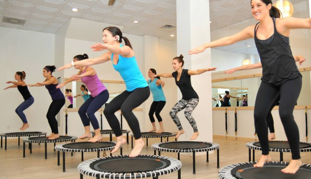 entraînement le fun, trampoline
