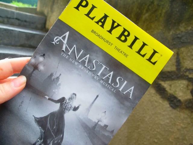 la comédie musicale d'Anastasia à New York