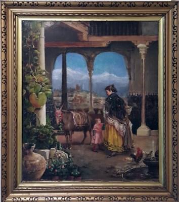 1886 Rafael Enriquez Sr. - Un Patio Andaluz (A Patio in Andalusia)