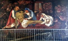 1955-56 Vicente Manansala & Ang Kuikok - Stations of the Cross XIV: Jesus is laid in the Tomb