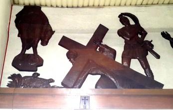 Napoleon Abueva - Stations of the Cross III Jesus carries the Cross