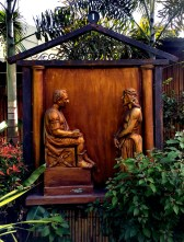 Garden of the Stations of the Cross: Jesus is condemned by Pilate