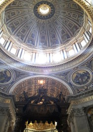 1506-13 Gian Lorenzo Bernini - St. Peter's Baldachin, St. Peter's Basilica, Vatican City, Rome