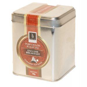 CEYLON TEA - ENGLISH BREAKFAST - 40G IN A CADDY(2GX20 PYRAMID TEA BAGS)