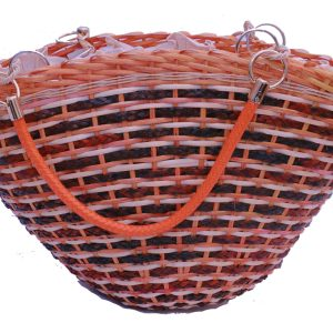 CANE & REED MIX HAND BAG WITH BUCKLE HANDLE WITH ZIPPER