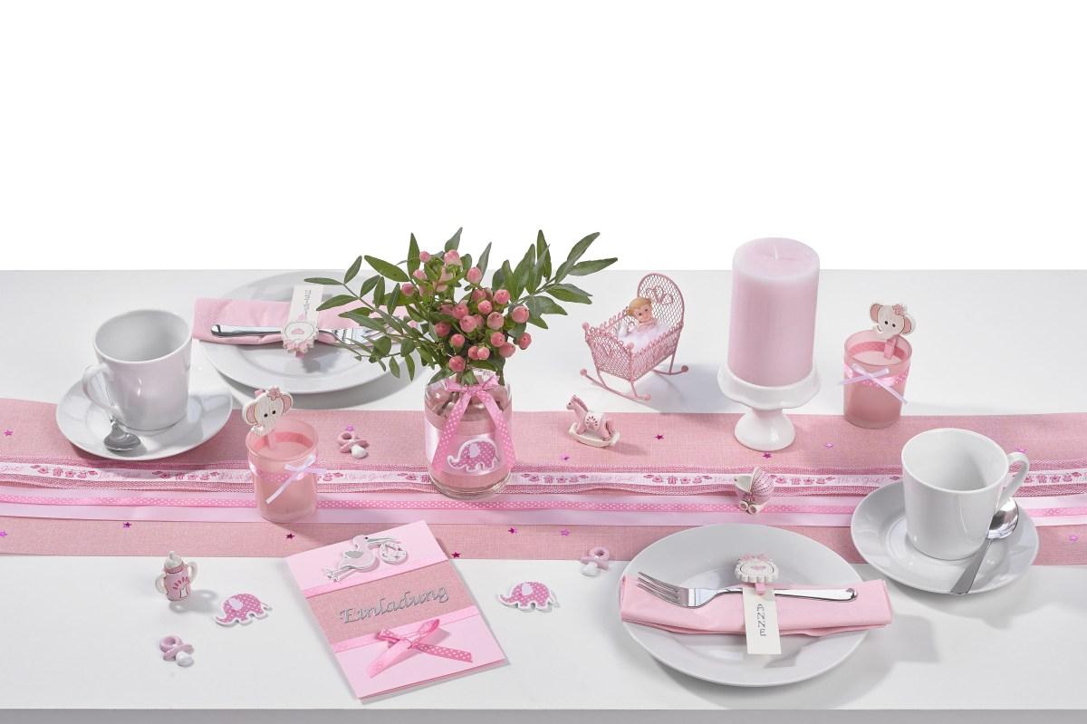 Its a Girl  Tischdeko in Pink