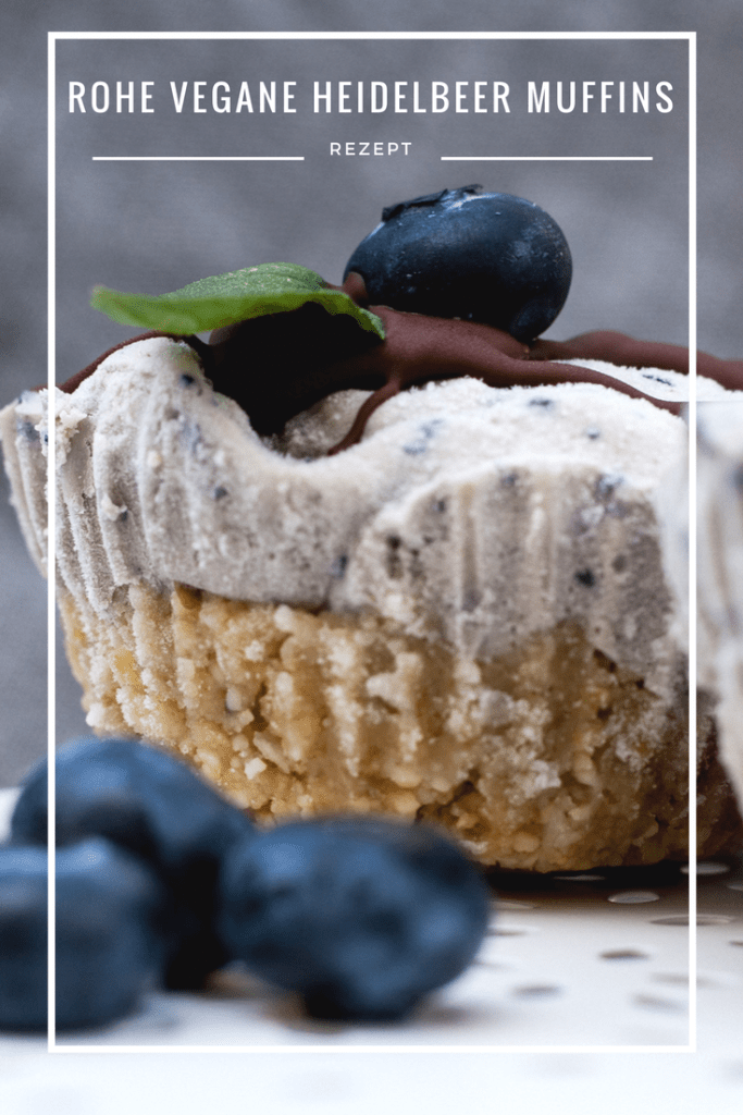 Raw Vegan Blueberry Muffin, Schwarzbeermuffin, Blaubeermuffin, Backen, Dessert, Rezept, Foodblogger Heidelbeermuffins