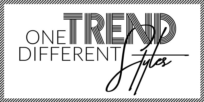 One trend, different Styles, www.lakatyfox.com