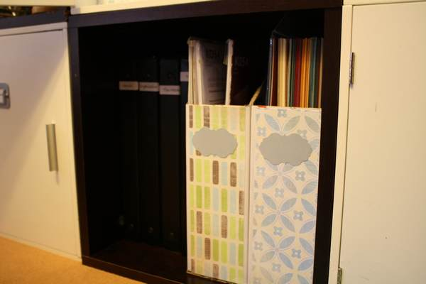 Close-up of Cardstock, Page Protectors and binders