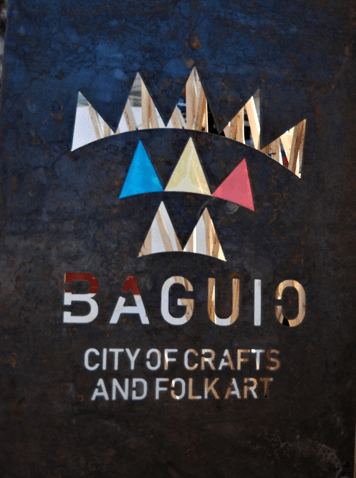 Baguio Creative City official logo: National Artist Benedicto Cabrera based the logo on a traditional Cordillera design for mountains with the colors of the middle mountain range inspired by the Philippine flag