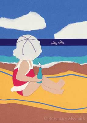 Baby at the Beach by Rosemary McGuirk