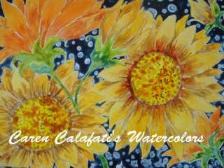 Indigo Add Color Sunflower by Caren Calafati