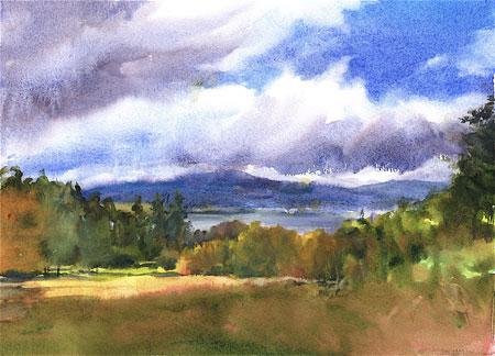 View of Mt. Sunapee by Bea Jillette