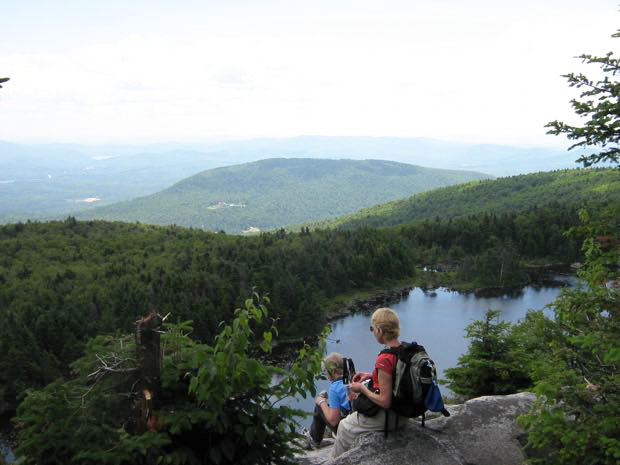 View of Lake Solitude from White Ledges 2