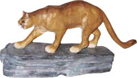 Cellini Carved Wood Cat