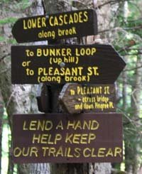 Webb Forest Trail Signs