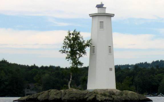Loon Island Lighthouse Sunapee Harbor Slideshow