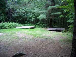Platform Site at Mt Sunapee Campground