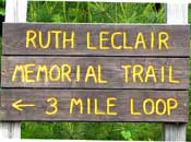 Ruth Leclair Trail Sign