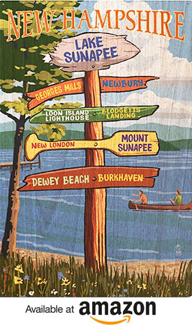 Lake Sunapee, New Hampshire - Destinations Signpost