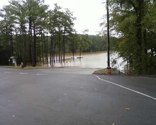 Lake Allatoona Water Levels Soar Past Full Pool at Lake