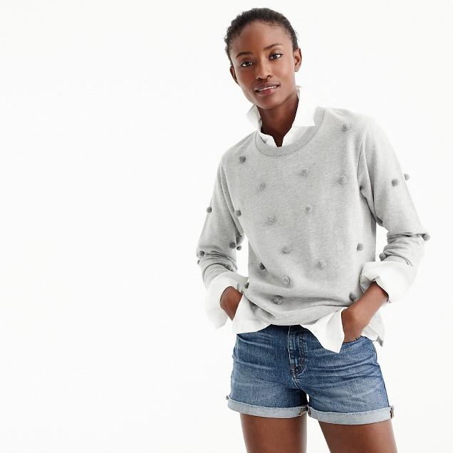 Jcrew pompom sweat shirt