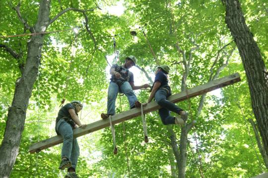 Campers are trained in rope safety, proper harnessing technique and ground-to-climber commands. The smiles are always biggest when everyone comes down safely!
