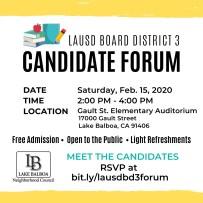 LAUSD BD3 Candidate Forum Instagram