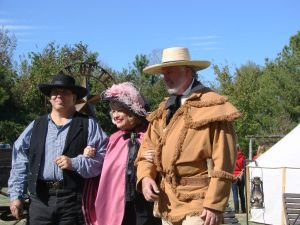 Historical figures are portrayed by area historians at the 2012 Feeding the Frontier Festival at Fernl