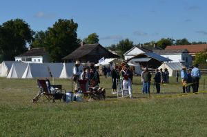 "A long view of the ""Encampment Area"" at Texian Heritage Festival"