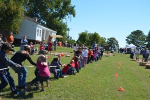 """""""Tug of War"""" in the children's arena at Texian Heritage Festival"""