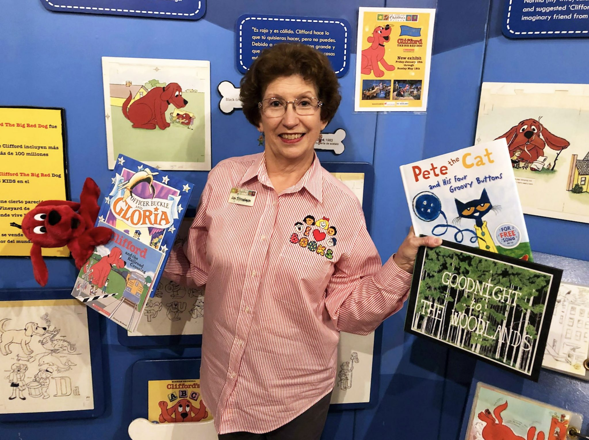 Children's Book Week at The Woodlands Children's Museum Fun begins with reading 'Clifford and the Railroad Crossing' Tuesday, April 30