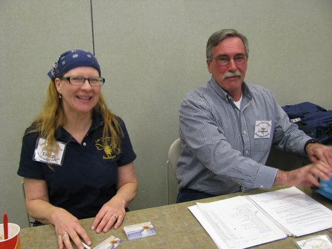 Sheila Estep and Dan Crockett welcomed attendees at the registration table