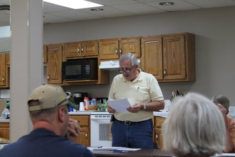 LCBA Secretary Tony Saylor reads the Minutes of the June 2016 meeting