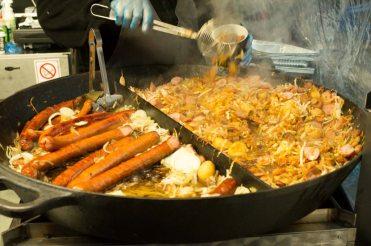 An enormous frying pan