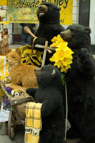The bears at Fieldside Honey's display