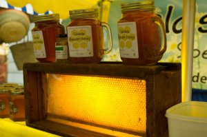 Fieldside Honey jars at the Kendal Festival of Food