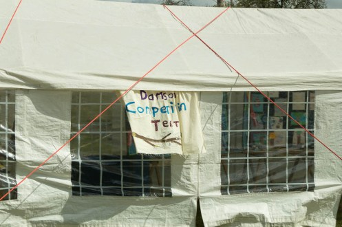 Damson Day competition tent